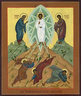 Icon of The Elevation of the Cross by Robin Armstrong